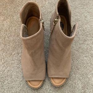 NWOT Dr Scholl's open toed booties